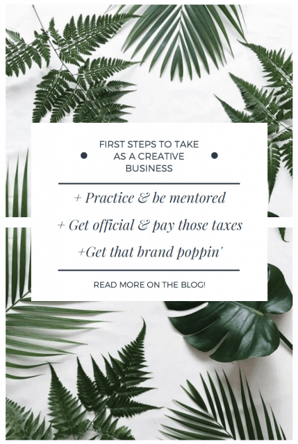 first steps to take as a creative business